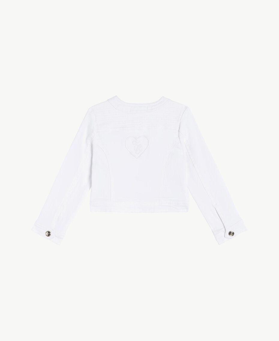 """Veste coton Blanc """"Papers"""" Enfant FS82CN-02"""