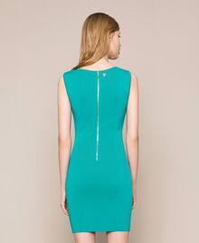 Knit sheath dress Tea Leaf Green Woman 201TT3180-03