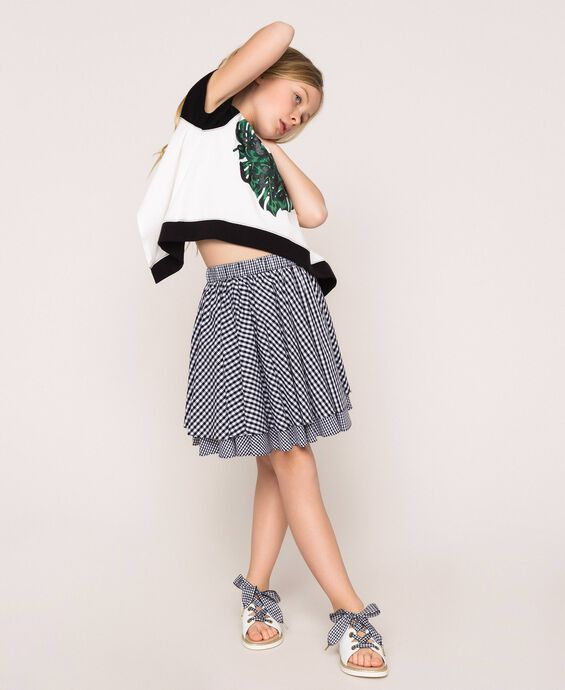 Gingham full skirt
