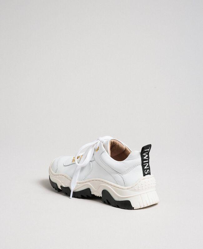 Sneakers in pelle Bianco Bambina 192GCJ028-03