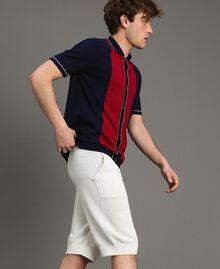 Cotton-blend Bermuda shorts Matte White Man 191UT3084-02