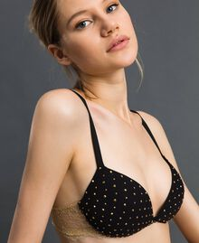 Reggiseno push-up senza ferretto con strass Nero Donna 192LL6J44-01