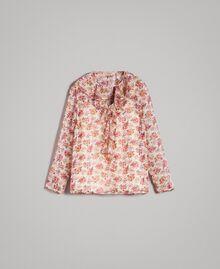 """Blouse en georgette à imprimé floral Imprimé Bouquet Rose """"Bouton De Rose"""" Femme 191TP2571-0S"""