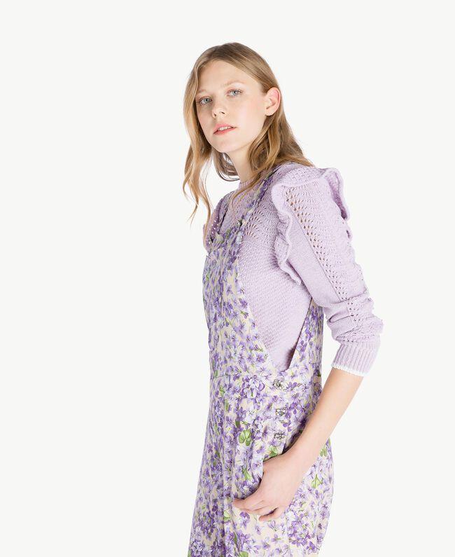 Salopette imprimée Imprimé Violettes All-Over Femme PS821R-04