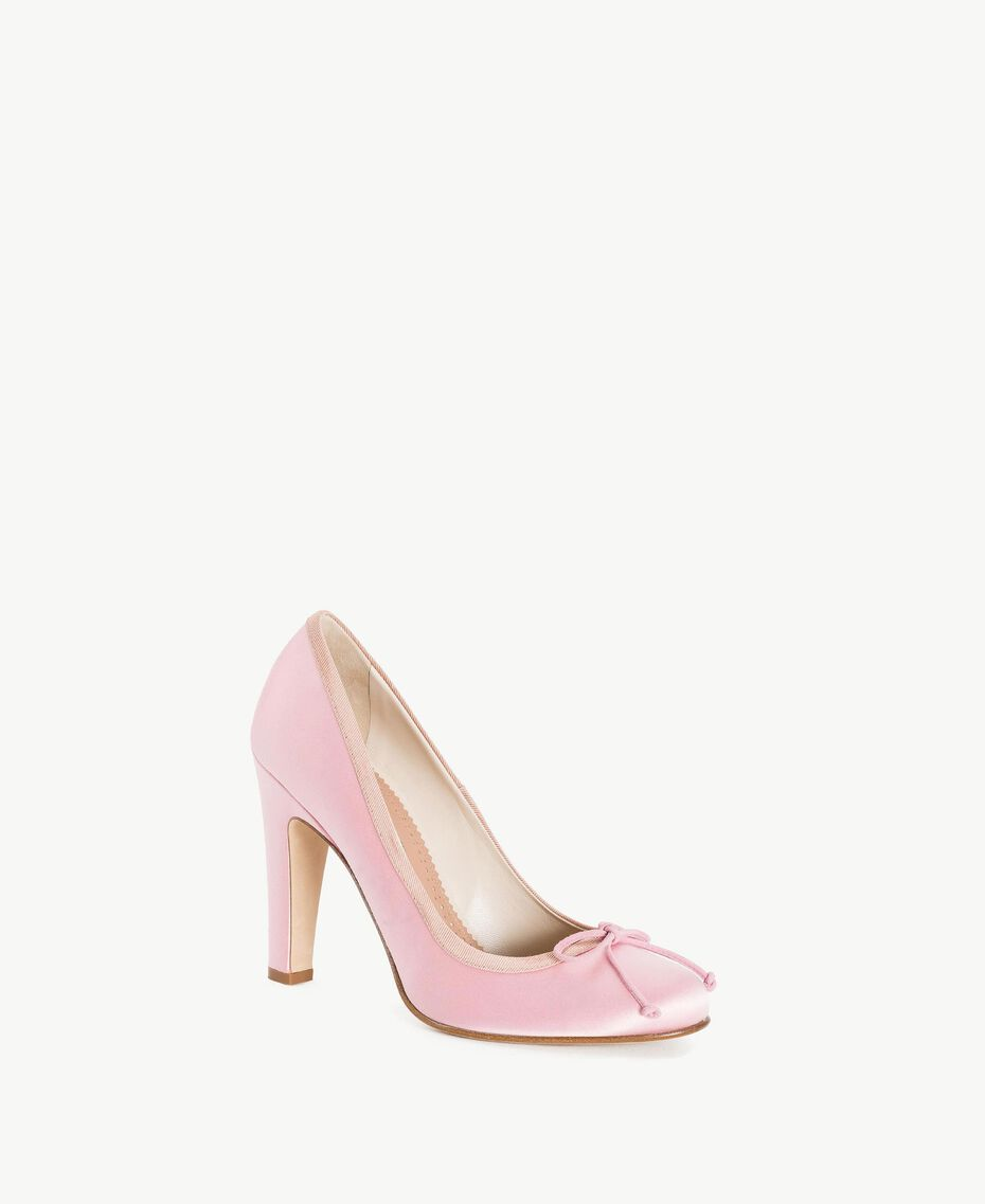 "TWINSET Satin court shoes ""Doll"" Fuchsia Woman CS8PGL-02"