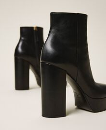 Platform leather ankle boots Black Woman 202TCP152-03