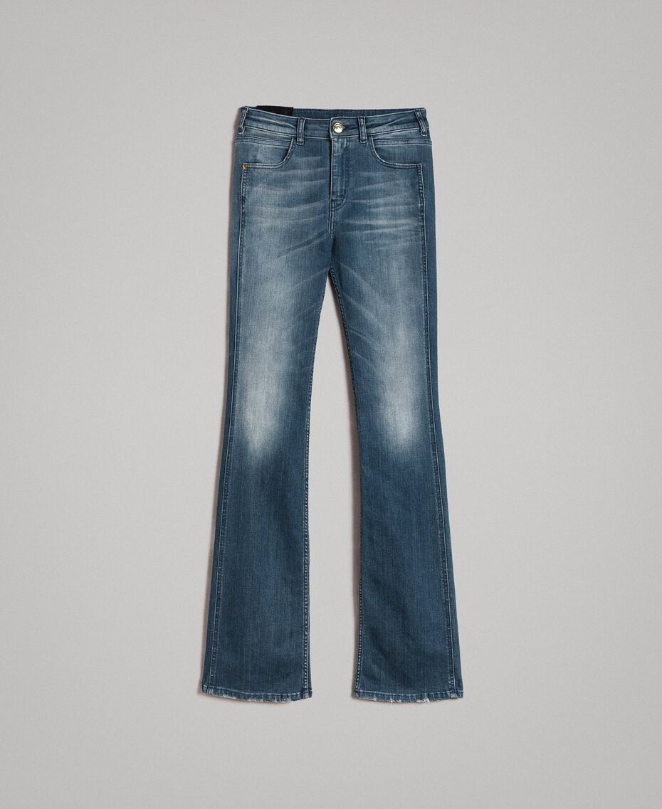 Jeans bell bottom effetto sfumato Denim Blue Donna 191MP2475-0S