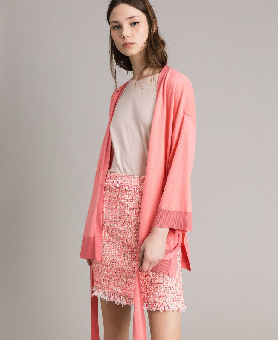 "Cashmere blend cardigan ""Wild Rose"" Pink Woman 191TP3064-05"