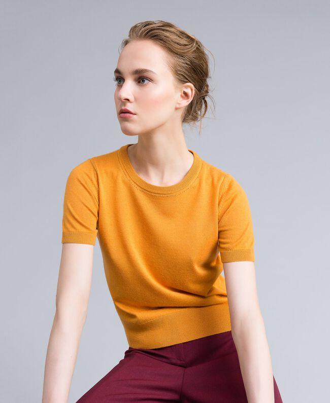 Pullover aus Seide und Kaschmir Brandy Frau PA83GD-01