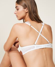 Lace and tulle bralette Ivory Woman 202LI6133-03
