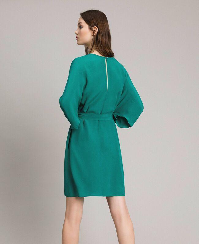 """Silk blend tunic dress """"Pepper Green"""" Woman 191TP2147-04"""