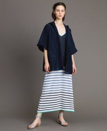 Long striped openwork dress Multicolour Blunight Striping Woman 191MT3082-0T