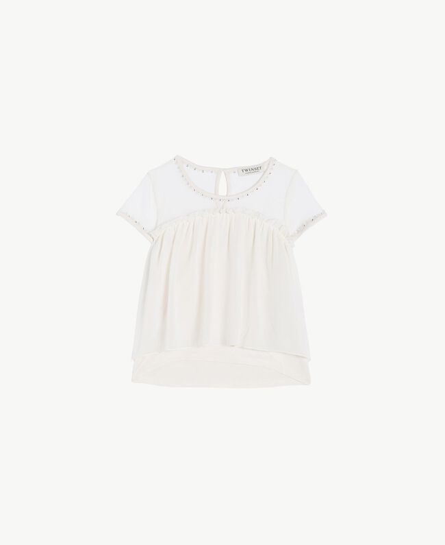 Embroidered blouse Pale Cream Child GS82B2-01