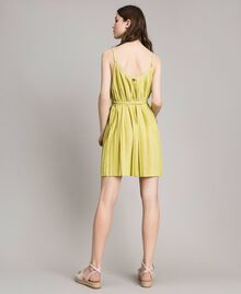 "Pleated lurex dress ""Lemon Juice"" Yellow Woman 191LB23FF-03"