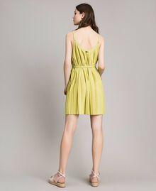 "Plisseekleid aus Lurex ""Lemon Juice"" Gelb Frau 191LB23FF-03"