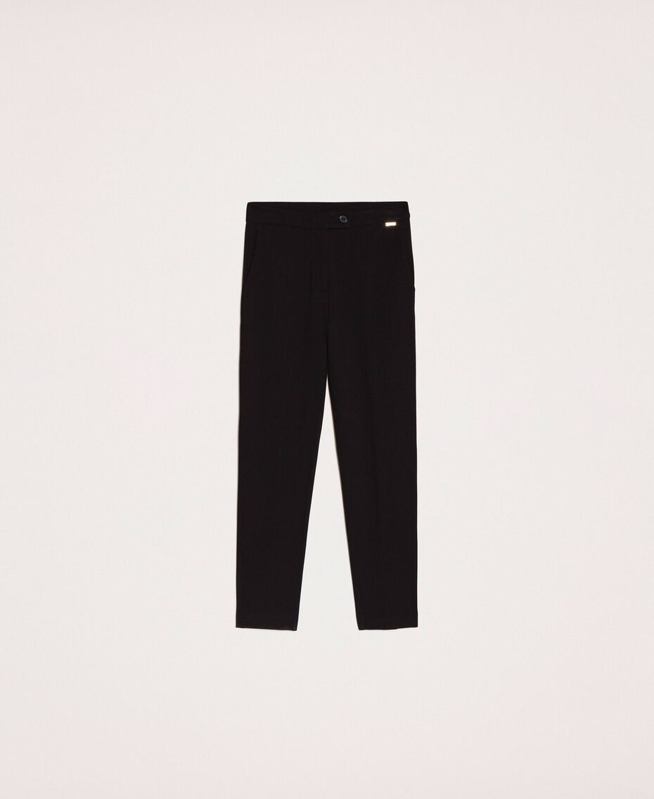 Cigarette trousers with pockets Black Woman 201ST2055-0S