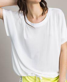 Camiseta con cordón de ajuste Blanco Mujer 191LL23GG-04