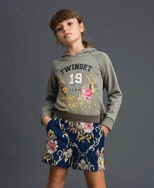 "Floral brocade shorts ""Mediterranean"" Blue Brocade Jacquard Child 192GJ2445-01"