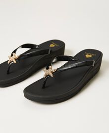 """Thong sandals with jewel detail """"Sky"""" Blue Woman 211LMPZPP-02"""