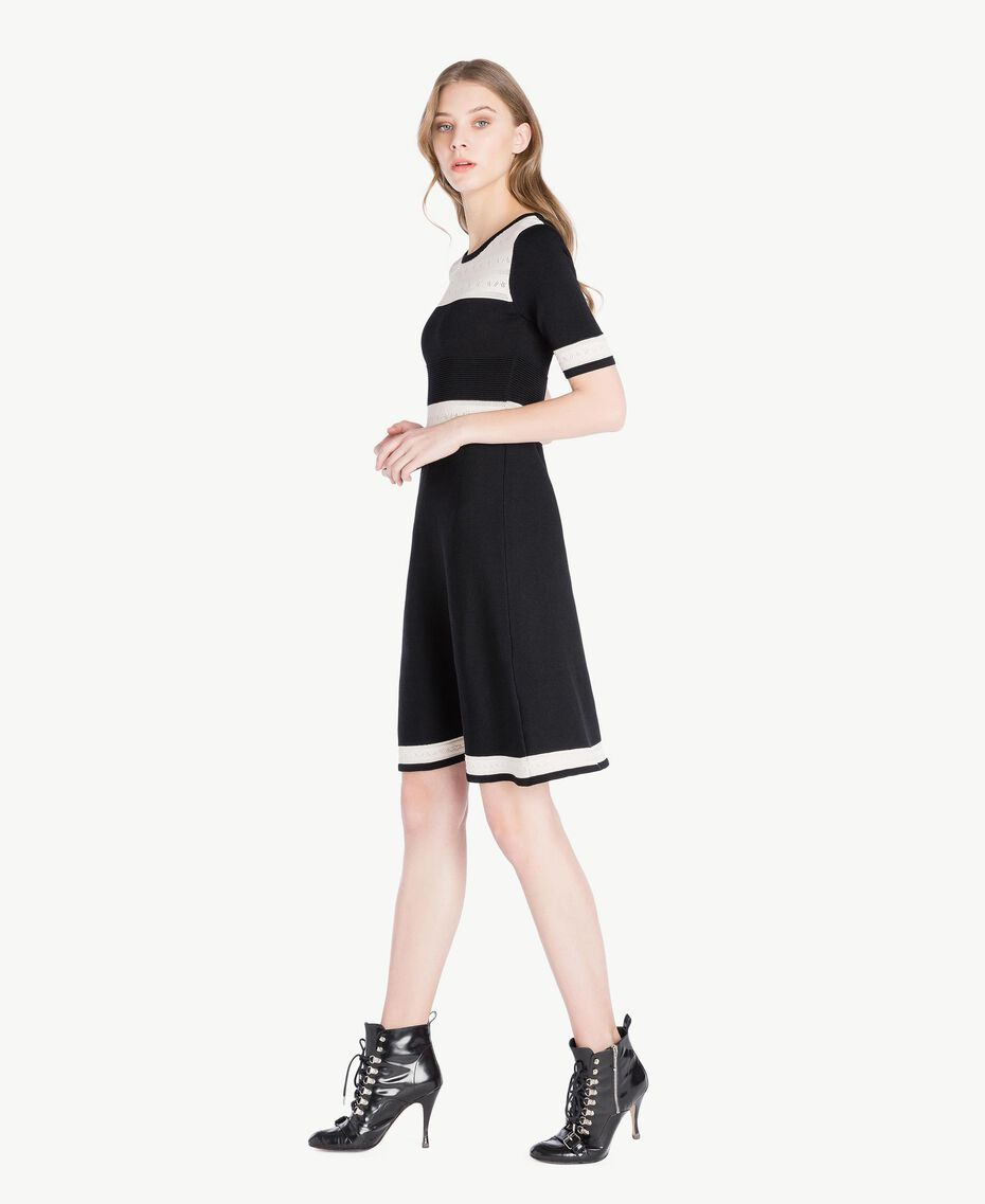 Knitted dress Black Woman PS83JA-02
