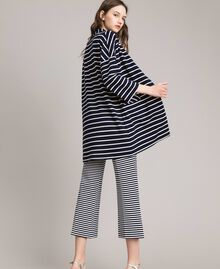 Unlined striped coat Off White / Blue Shadow Striping Woman 191ST2030-03