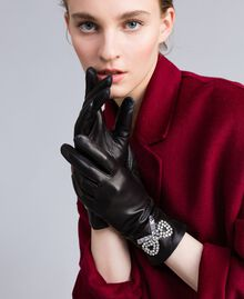 Leather gloves Black Woman AA8P3A-0S