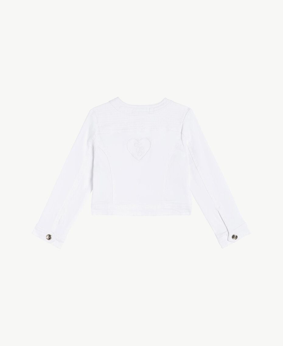"Cotton jacket ""Papers"" White Child FS82CN-02"