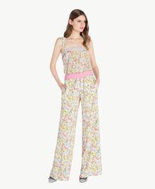 Printed palazzo pants Spring Print Woman PS82PE-05