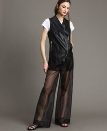 Organza palazzo trousers Black Woman 191MT2132-01