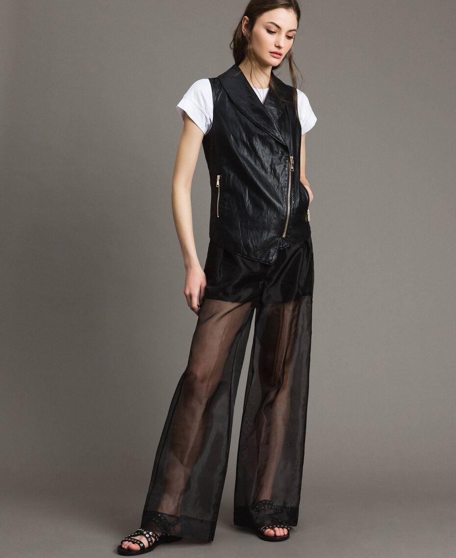 Organza palazzo trousers Black Woman 191MT2132-01