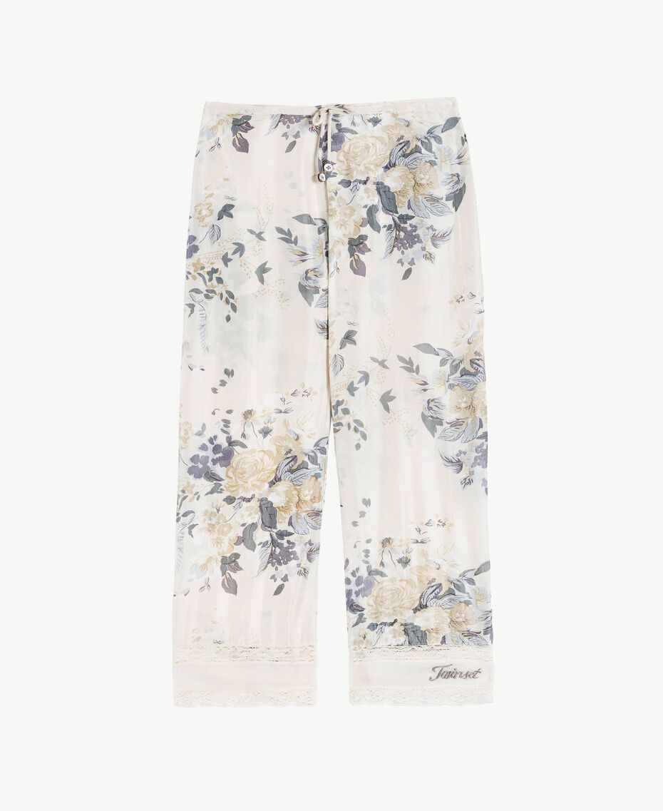 Flowers print trousers Flowers Print / Light Smoke Grey Child GS82E2-01