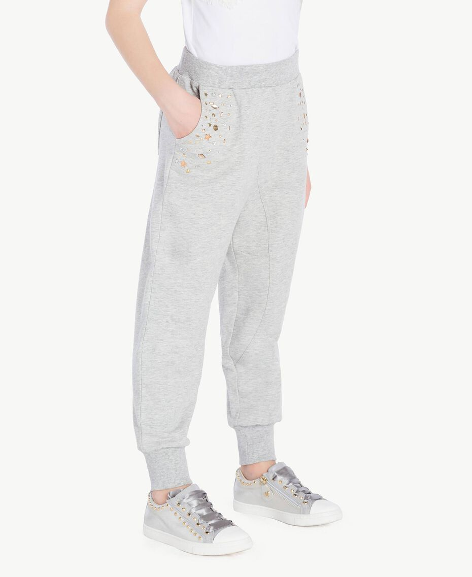 Studded trousers Light Gray Mélange Child GS82G4-03