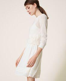 Vestido lencero y jersey de mohair Blanco Nata Mujer 202TP3262-05