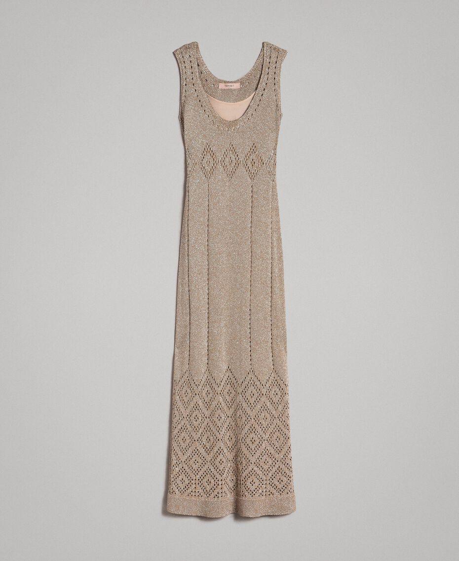 Robe longue en lurex ajouré Noir Femme 191TT3110-0S