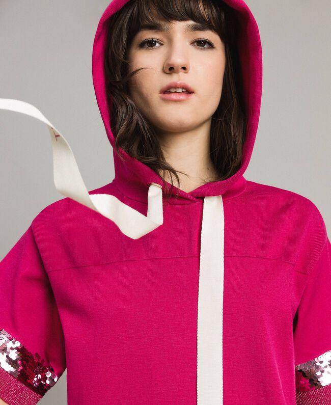 Viscose mini dress with sequins Rose Blossom Woman 191LL35QQ-04