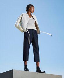 Свободные прямые джинсы Тёмный Деним женщина 202MP2072-0T