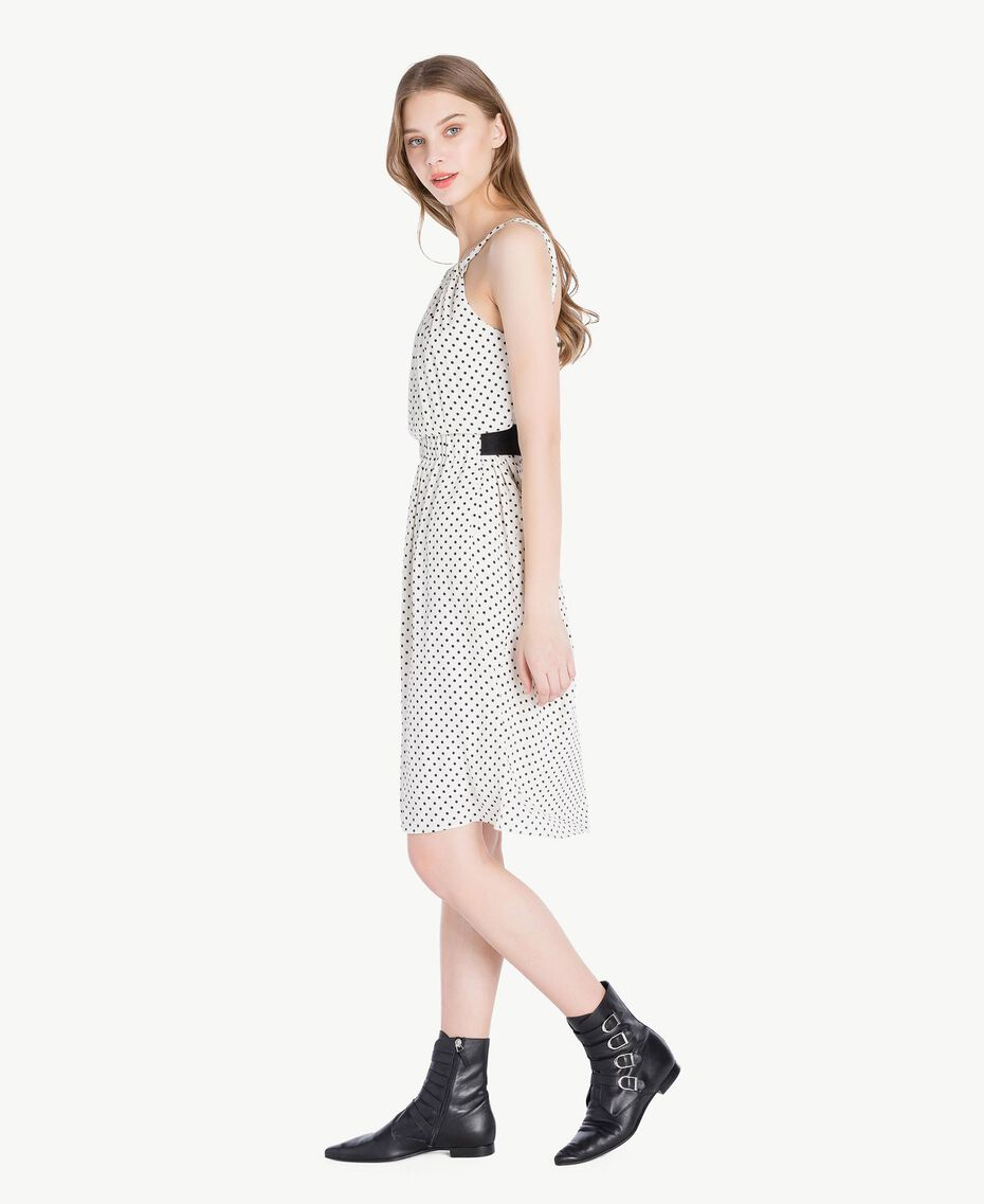 Polka dot dress Ivory Polka Dot Print / Black Woman PS82MP-02