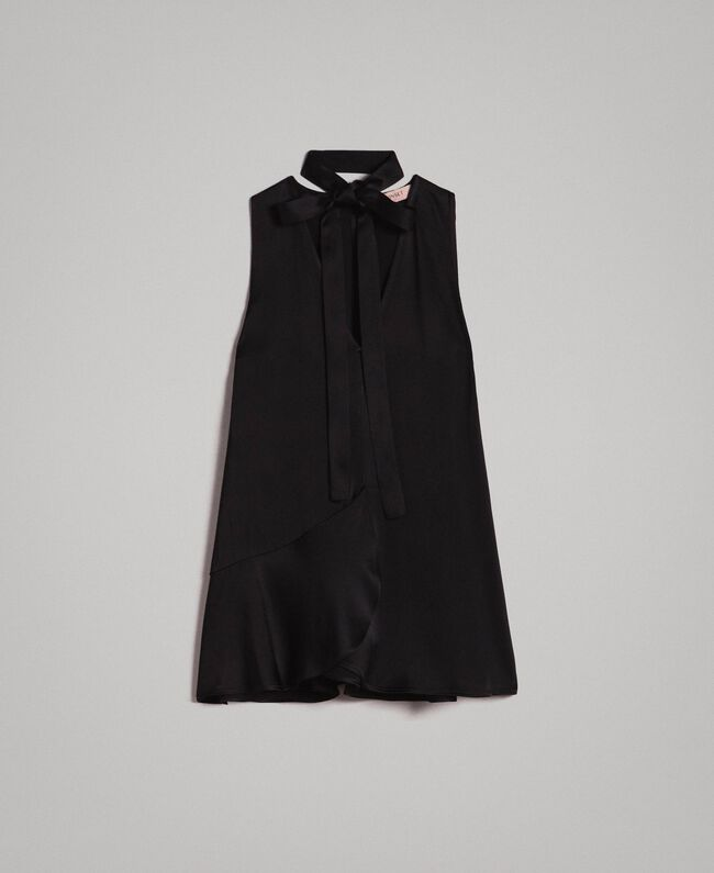 Flared top with bow Black Woman 191TP2696-0S