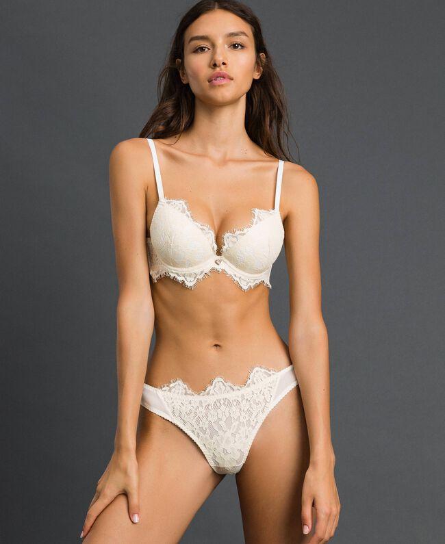 Culotte brésilienne en dentelle Crème Femme 192LI6177-01