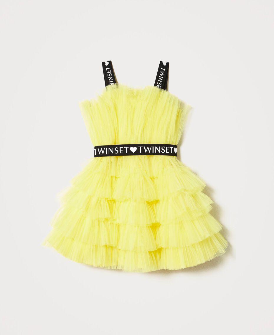 "Tulle dress with belt ""Sunny Lemon"" Yellow Child 211GJ2Q8B-0S"