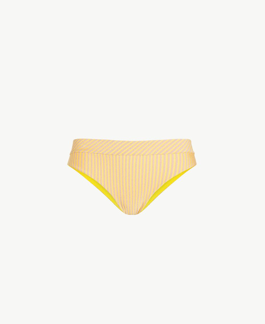Slip righe Riga Lurex Yellow Fizz Donna MS8C66-01