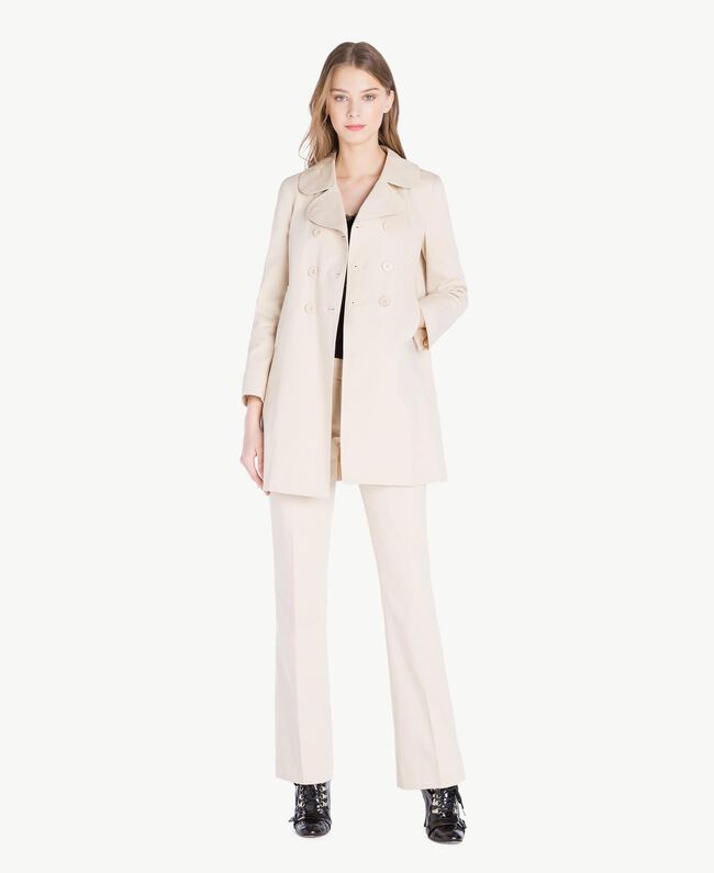 Trench toile Écru Femme PS824P-01