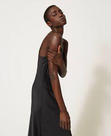 "Satin slip dress ""Nude"" Beige Woman 202MP2371-03"