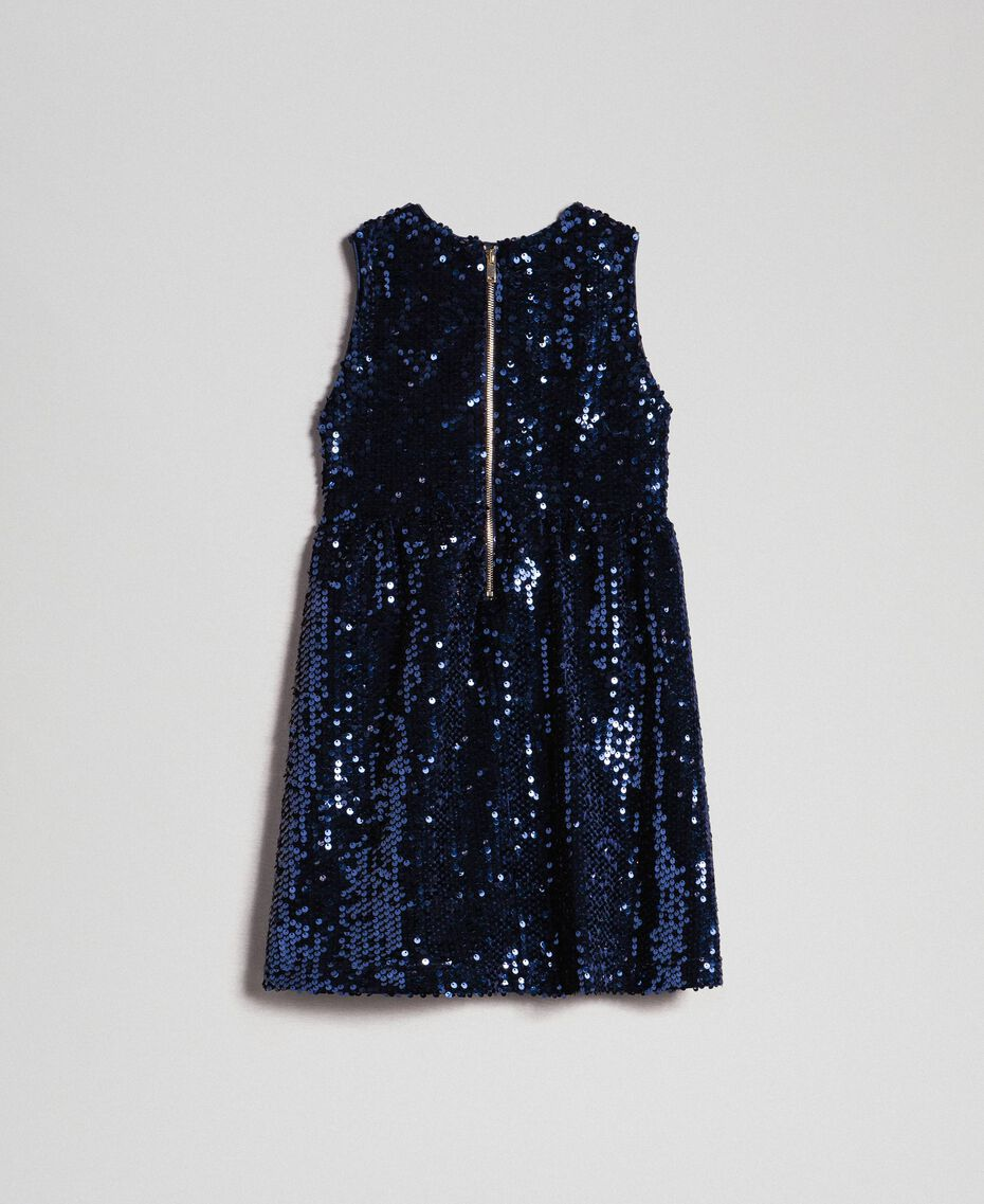 Robe en velours avec sequins Blue Night Enfant 192GB2090-0S