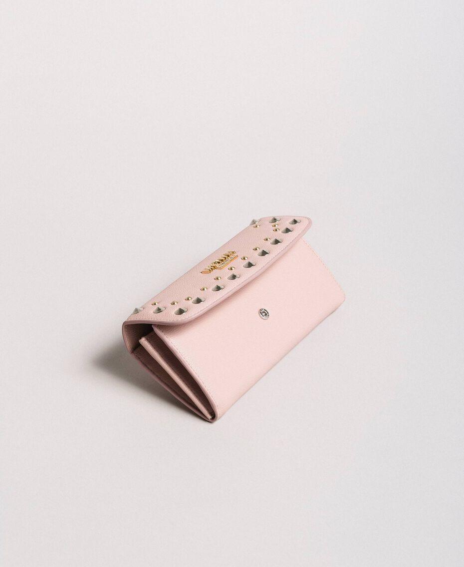 """Geldbörse aus Kunstleder mit Nieten """"Surreal Pink"""" Frau 191MA7144-02"""