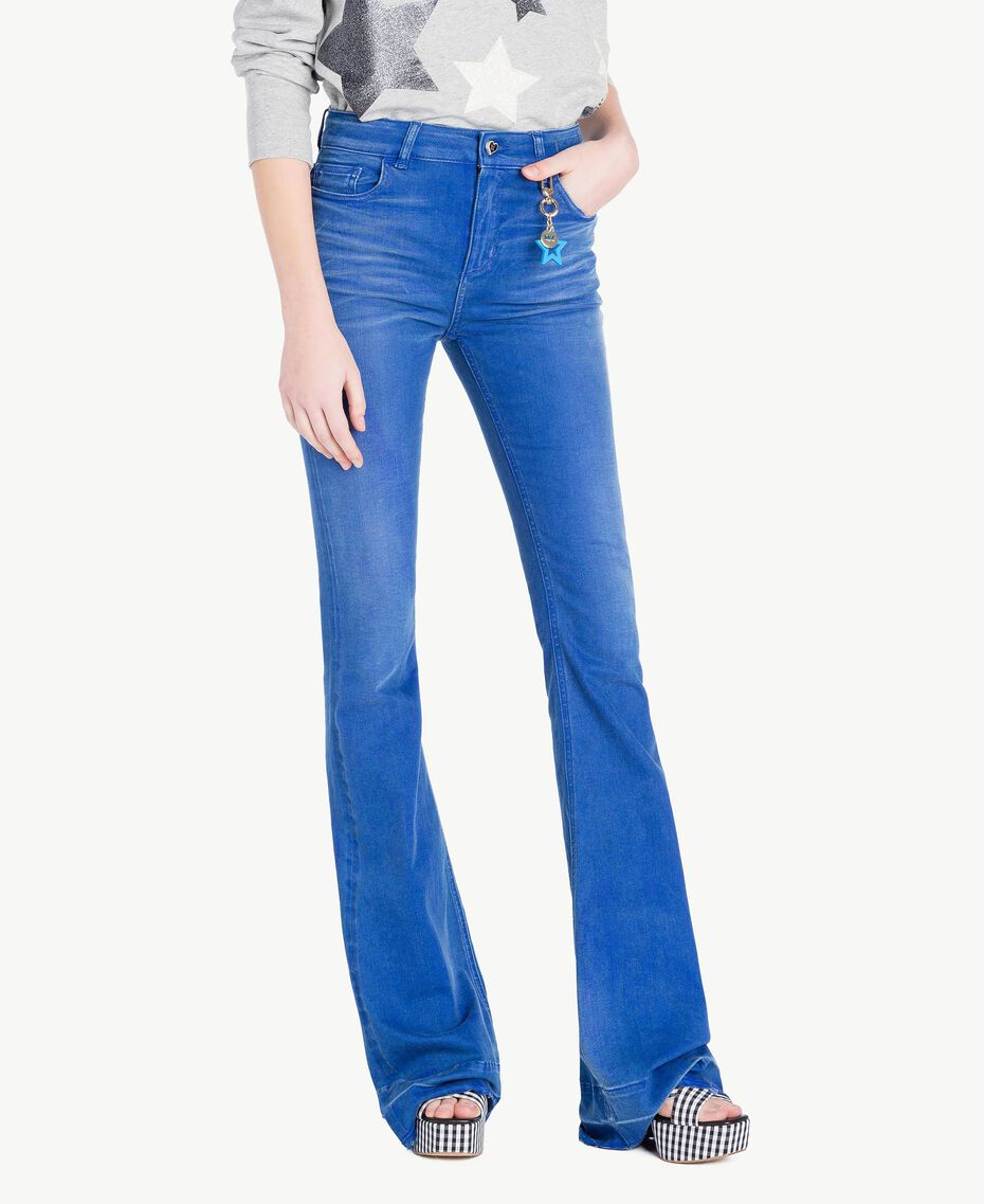 Bell bottom jeans Denim Blue Woman JS82WT-01