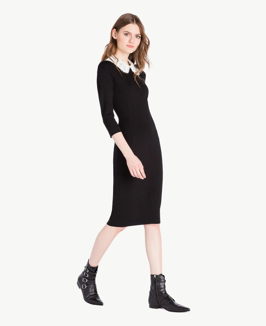 Collar dress Black Woman PS828B-02