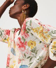 Floral print cardigan-jumper Meadow Flower Print Woman 211TT3141-01