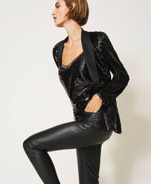 Full sequin jacket Black Woman 202TP2110-04