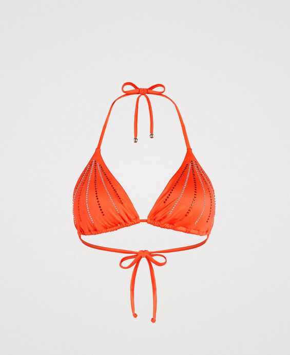 Haut de bikini triangle avec strass